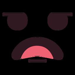 Cara de emoticon desapontado masculino simples