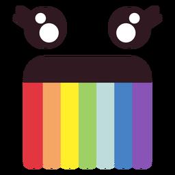 Rostro de emoticonos simples de arcoiris.