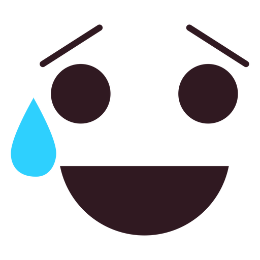 Simple relieved emoticon face Transparent PNG