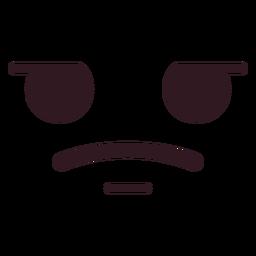 Cara de emoticon triste simple