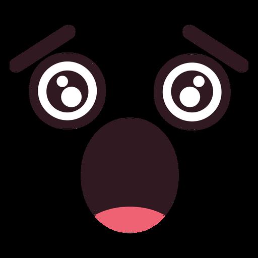 Cara de simple caricatura asustada. Transparent PNG