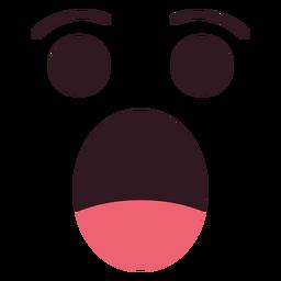 Cara de emoticon chocado simples