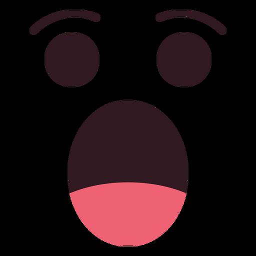 Cara de emoticon sorprendido simple Transparent PNG