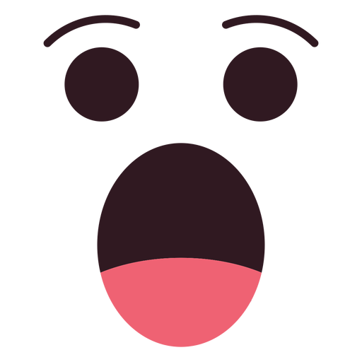 Simple shocked emoticon face Transparent PNG