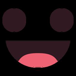 Einfaches Lächeln Emoticon Gesicht