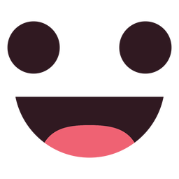 Simple smile emoticon face
