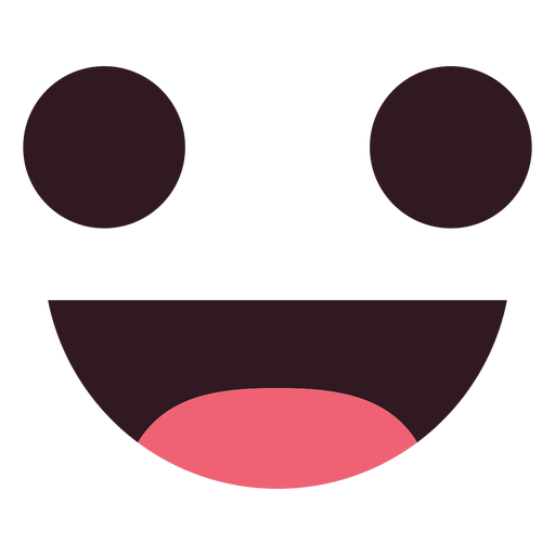Cara de emoticon de sorriso simples Transparent PNG
