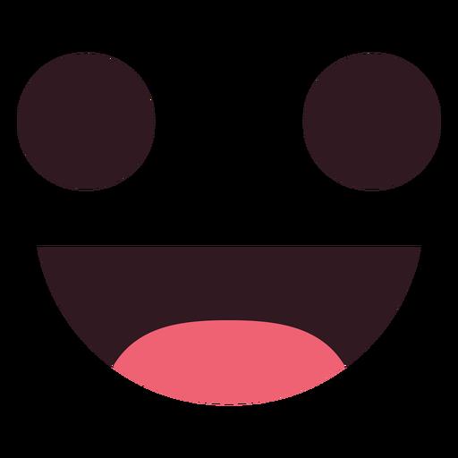Einfaches Lächeln Emoticon Gesicht Transparent PNG