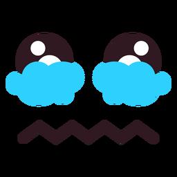 Cara de emoticon chorosa simples