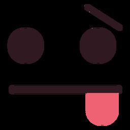 Einfaches, müdes Emoticongesicht
