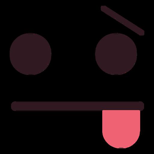 Cara de emoticon simple y cansada. Transparent PNG