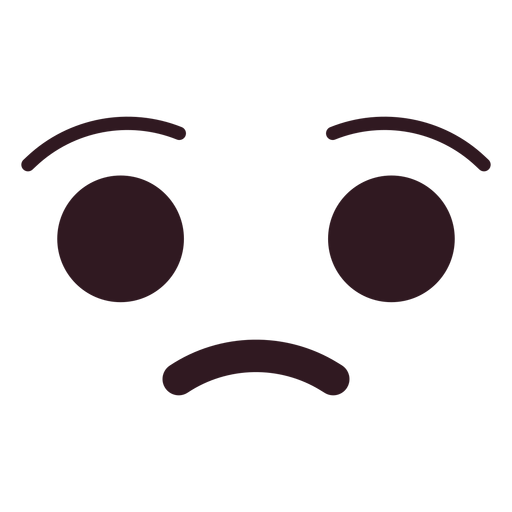 Simple Upset Emoticon Face Transparent Png Svg Vector