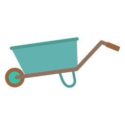 Simple wheelbarrow icon