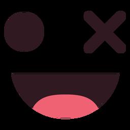 Simple wink emoticon face