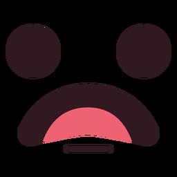 Einfach besorgtes Emoticongesicht