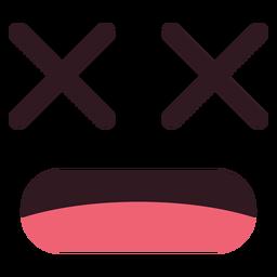 Einfaches x-Augen-Emoticon-Gesicht
