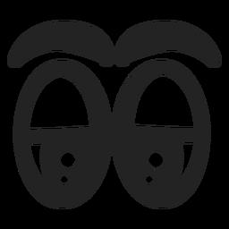 Olhos de emoticon sonolentos