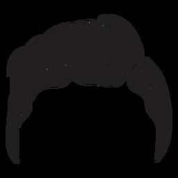 Icono de pelo de hombres de Slicker back