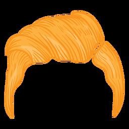 Slicker back men hair illustration