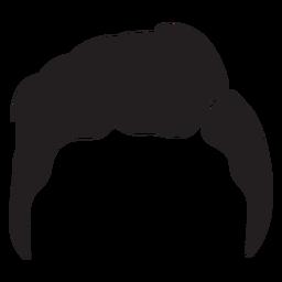 Slicker back men hair silhouette