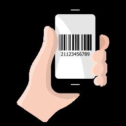 Ícone de código de barras do smartphone
