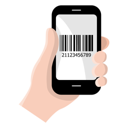 Smartphone barcode icon