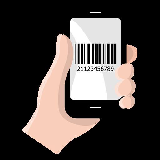 Icono de código de barras de smartphone