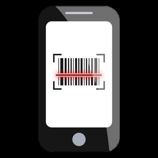 Escaneo de código de barras de smartphone Transparent PNG