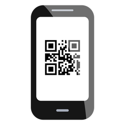 Ícone do código do smartphone qr