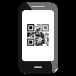 Icono de código qr de smartphone