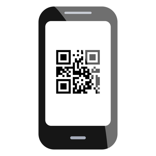 Ícone do código do smartphone qr Transparent PNG