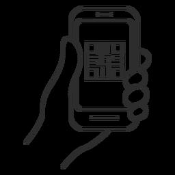 Lector de código qr teléfono inteligente