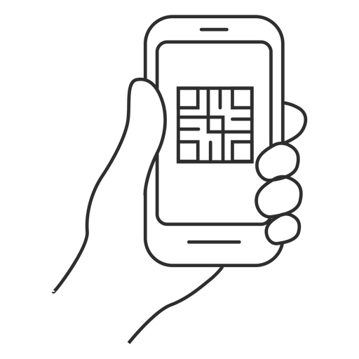 Smartphone qr code reader Transparent PNG