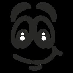 Cara de emoticon de sonrisa