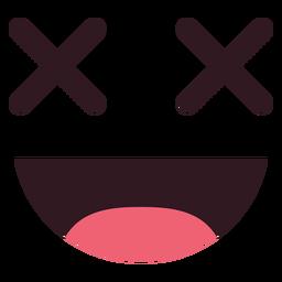 Emoticon sonriente cara plana