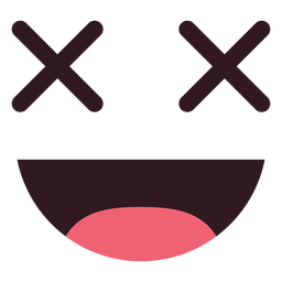 Smiley emoticon face flat