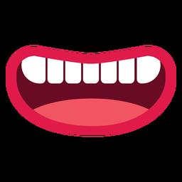 Sorrindo, boca aberta, ícone
