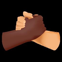 Icono de apretón de manos del hermano del alma