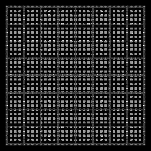 Design de grade de pontos quadrados