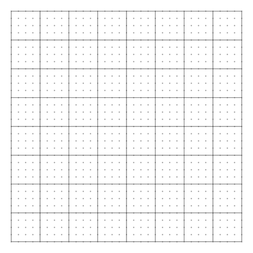 Squared dot grid design