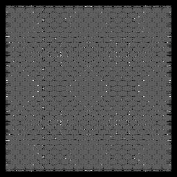 Grade de quadrados e diagonais