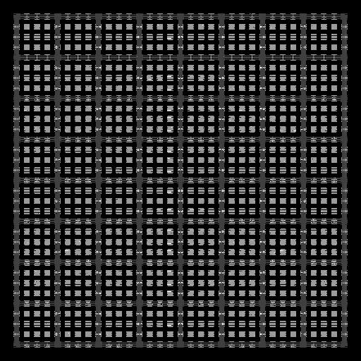 Diseño de cuadrícula de cuadrados y puntos.
