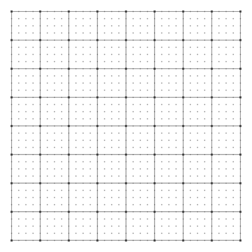 Squares and dots grid design