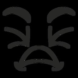 Cara de emoticon entrecerrado