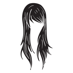 Icono de pelo de mujer recta