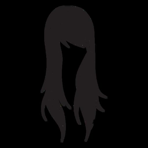 Ícone de cabelo de mulher em linha reta Transparent PNG