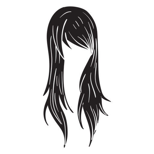 Straight woman hair icon Transparent PNG