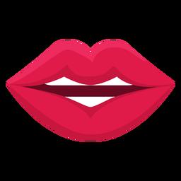 Falando, fêmea, boca, ícone