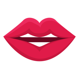 Talking female mouth icon