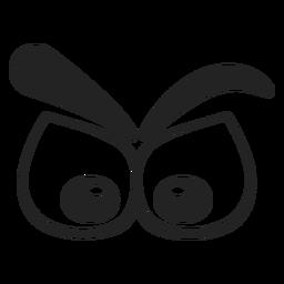 Thinking emoticon eyes cartoon